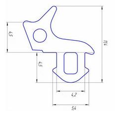 Уплотнитель для профиля KBE (стеклопакет)